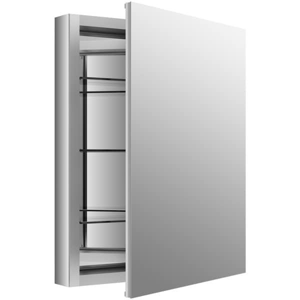 Kohler Verdera 24 inch W x 30 inch H Recessed Medicine Cabinet in Anodized Aluminum