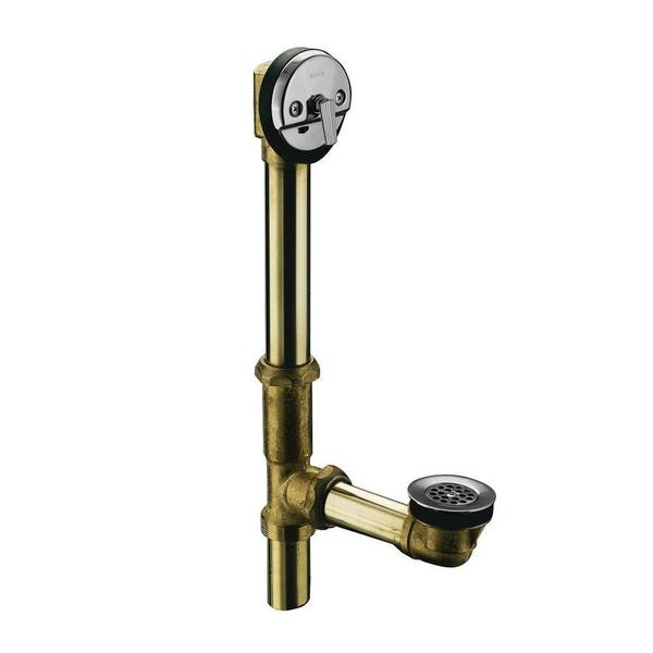 Kohler Swiftflo Brass Adjustable Trip Lever Drain in Polished Chrome
