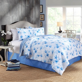 Grove Hill Water Flower Cotton 4-piece Comforter Set