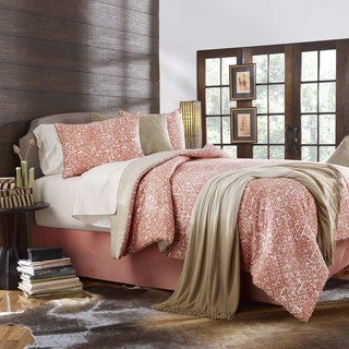 Grove Hill Block Print Cotton 4-piece Comforter Set