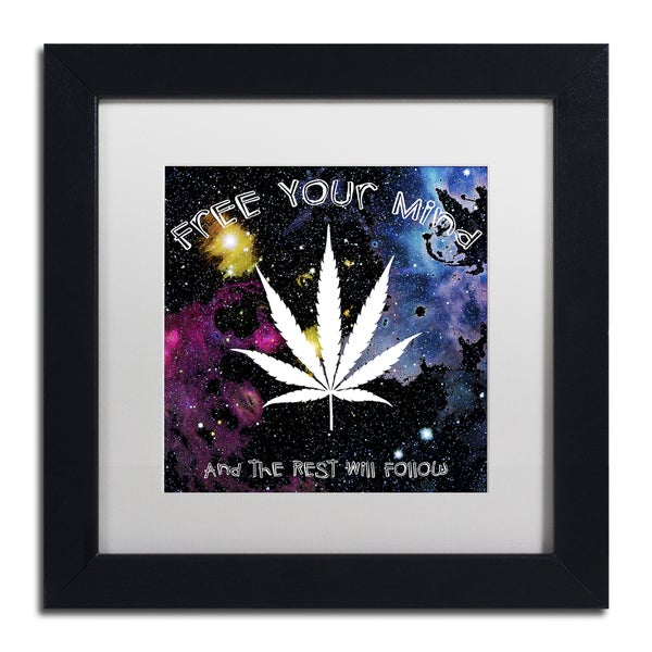Potman 'Free Your Mind' Black Framed Canvas Art