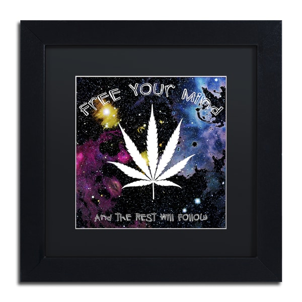 Potman 'Free Your Mind' Framed Canvas Wall Art