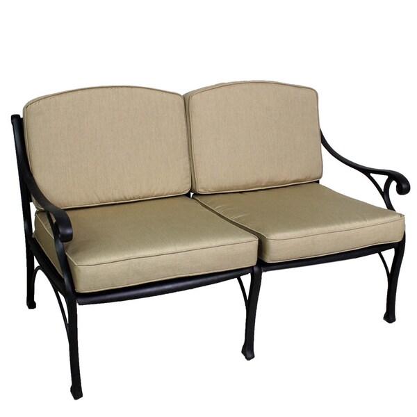 Lattice Work Love Seat with Sunbrella Cushions