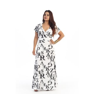 Women's Plus Size Maxi ABC Dress