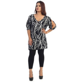 Women's Plus Size Short Swirls Dress