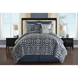 Westerly Reversible 9-piece Comforter Set