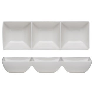 Vanilla Fare 3 Part Tray 9.5-inch 4-ounce (Set of 2)