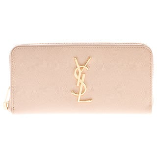 Saint Laurent Monogram Textured Leather Zip Around Wallet
