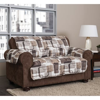 Sure Fit Quilted Suede Chocolate Sofa Pet Throw Pillow 12971647 Overstock Shopping Big