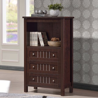 Cyclo Modern and Contemporary Dark Brown Sideboard Storage Cabinet with Three Drawers