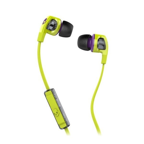 Skullcandy Smokin Buds 2 Lime Green/ Purple Headphones with Mic