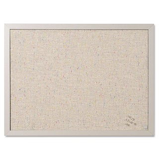 MasterVision Designer Gray Fabric Bulletin Board