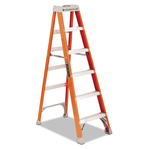 Louisville Fiberglass Heavy Duty Orange Step Ladder