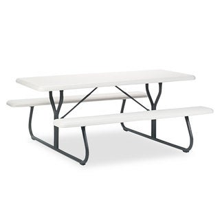 Iceberg IndestrucTables Too 1200 Series Platinum/Gray Resin Picnic Table