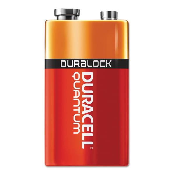 Duracell Quantum 9V Alkaline Batteries with Duralock Power Preserve Technology (Pack of 12 Batteries)