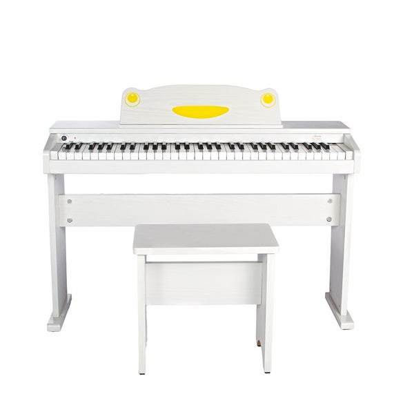 Artesia FUN-1 Childrens 61-Key Digital Piano + Bench (White)