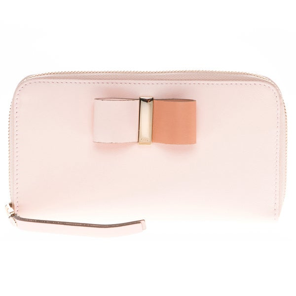 Chloe Bow Zip Around Leather Wallet