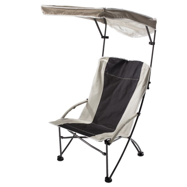 Quik Shade Pro Black/ Tan Comfort High Folding Camp Chair