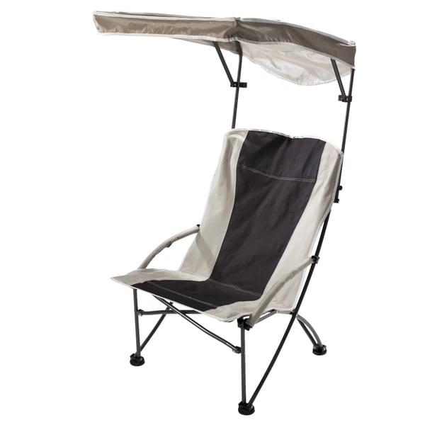 Quik Shade Pro Black/ Tan Comfort High Folding Camp Chair