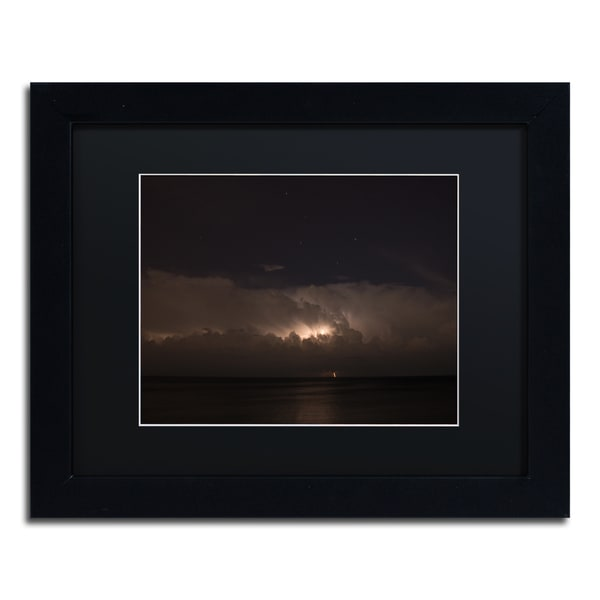 Kurt Shaffer 'Big Dipper Thunderstorm' Black Framed Canvas Wall Art