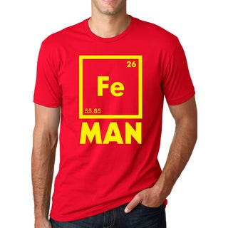 Men's Fe Man Iron Funny Science Cotton T-shirt