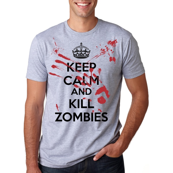 Men's Keep Calm Kill The Zombies Cotton T-shirt
