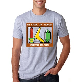 Men's In Case of a Ganon Break The Glass Video Game Cotton T-shirt