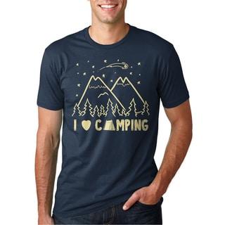Men's I Love Camping Cotton T-shirt