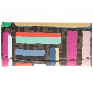 Fendi Chalk Print Flap Wallet