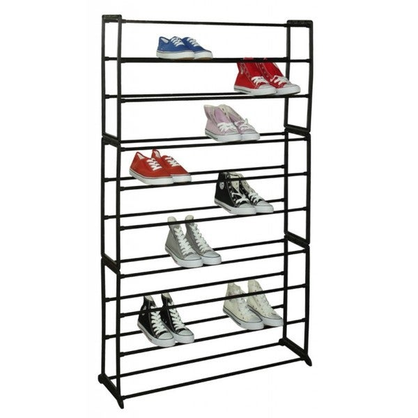 Sunbeam 50-pair Black Shoe Rack