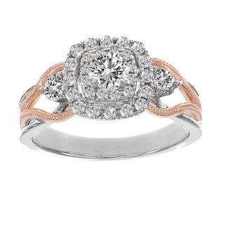 H Star 14k White and Rose Gold 7/8ct TDW Diamond Engagement (H-I, I1-I2)