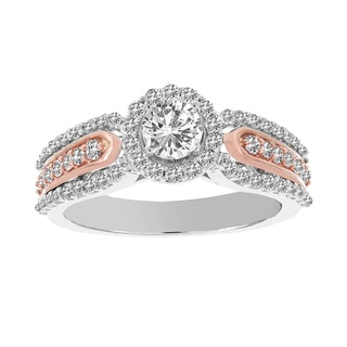 H Star 14k White and Rose Gold 1ct TDW Diamond Engagement (H-I, I1-I2)