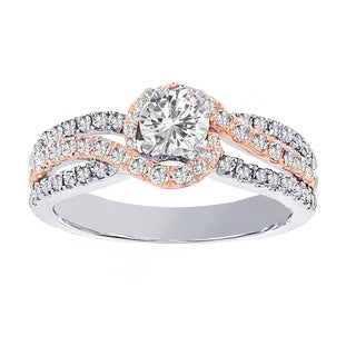 H Star 14k White and Rose Gold 1ct TDW Diamond Engagement Ring (H-I, I1-I2)