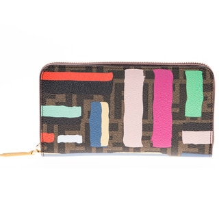 Fendi Chalk Print Zip-Around Wallet