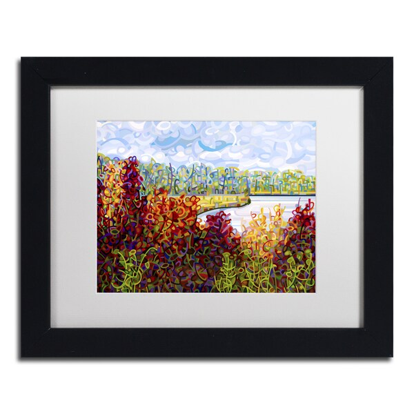 Mandy Budan 'Summers End' Black Framed Canvas Art