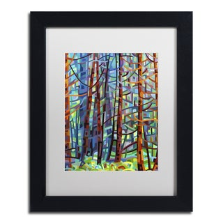 Mandy Budan 'In A Pine Forest' Black Framed Canvas Art