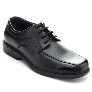 Roucs Dres-13s Men's Casual Lace Up Low Chunky Heel Oxfords
