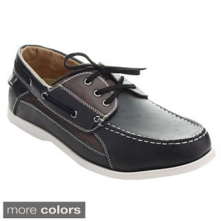 Roucs Xh-92 Men's Fashion Boat Shoes Lace Up Perforated Slip On Oxfords