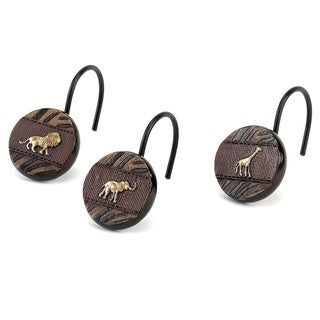 Animal Parade Pine Shower Curtain Hooks
