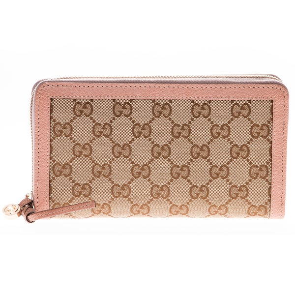 Gucci GG Canvas Zip Around Wallet