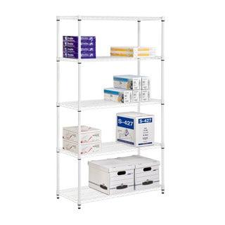Honey-Can-Do Five Tier White Storage Shelves