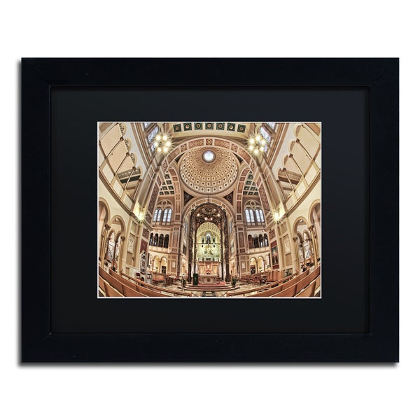 Gregory O'Hanlon 'Dome of the US Capitol' Black Framed Canvas Art