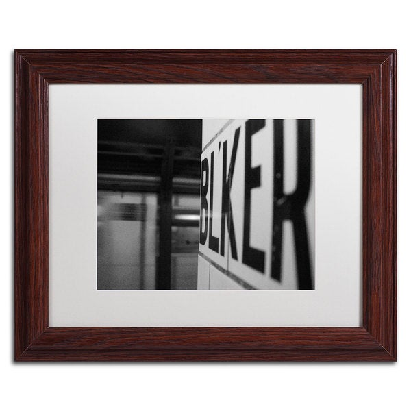 Yale Gurney 'Bleeker' Wood Framed Canvas Art