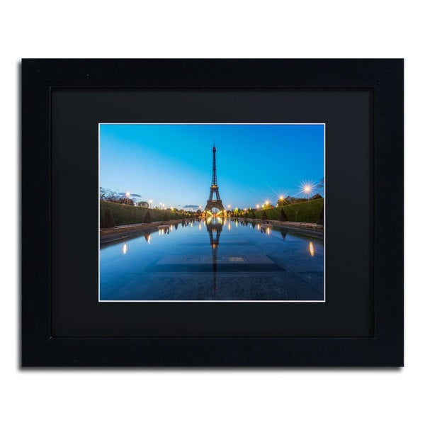 Mathieu Rivrin 'Blue Hour in Front of the Eiffel Tower' Framed Canvas Wall