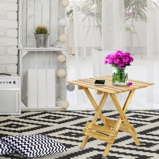 Quick Folding Solid Wood Tray Table