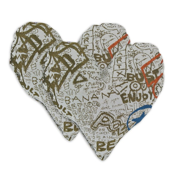 Just The Facts Comfort Heart Shaped Pillows (Set of 2)