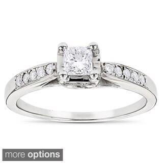 Luxurman 14k Gold 5/8ct TDW Diamond Engagement Ring (G-H, SI1-SI2)