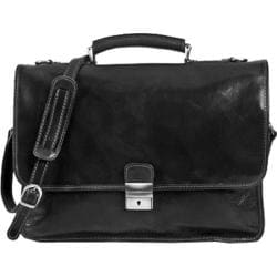 Alberto Bellucci Torino Black Italian Leather Briefcase