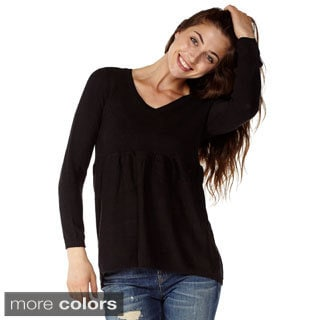 Dinamit Juniors V-Neck Tunic Knit Sweater