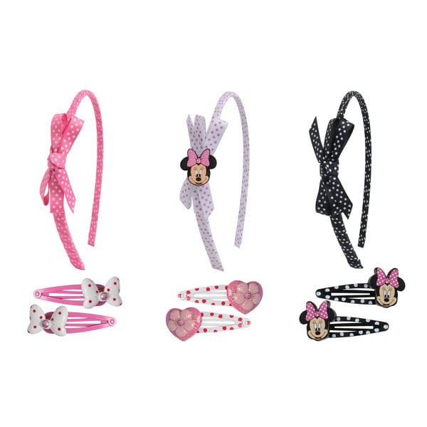 Disney Minnie Mouse 6-piece Snaps and 3-piece Headband Set